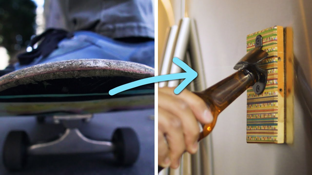 Artist Upcycles Skateboards Into Home Products