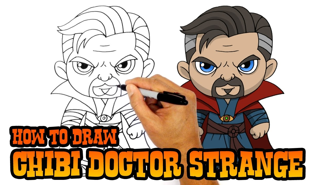 How To Draw Doctor Strange The Avengers Youtube
