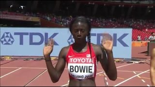 Tori Bowie Wins Women's 100m heat 1 at IAAF World Championships Beijing 2015