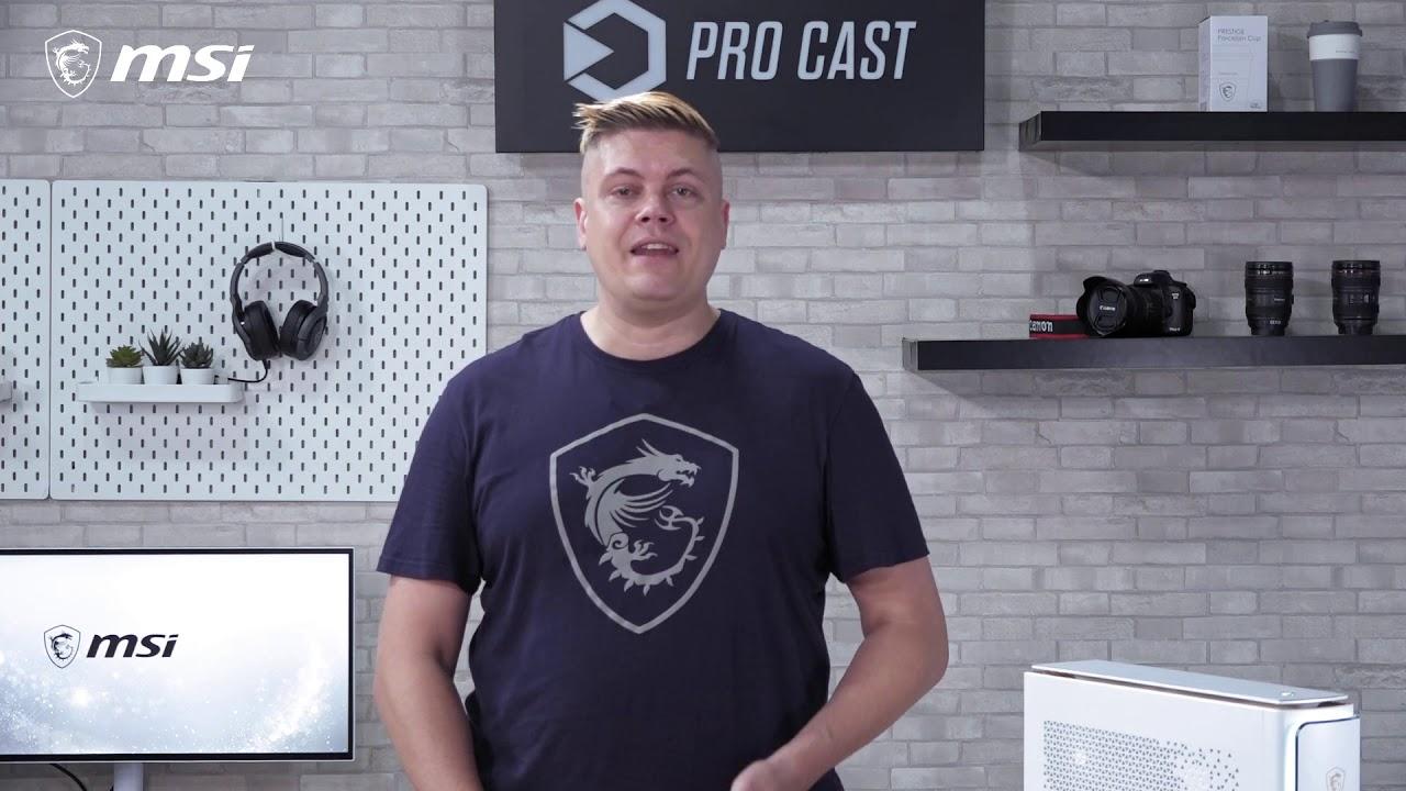 MSI Pro Cast : présentation du Prestige P100, un desktop pensé pour les créateurs