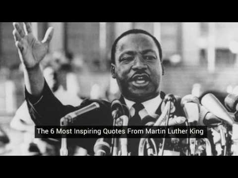 Six Most Inspiring Quotes from Martin Luther King