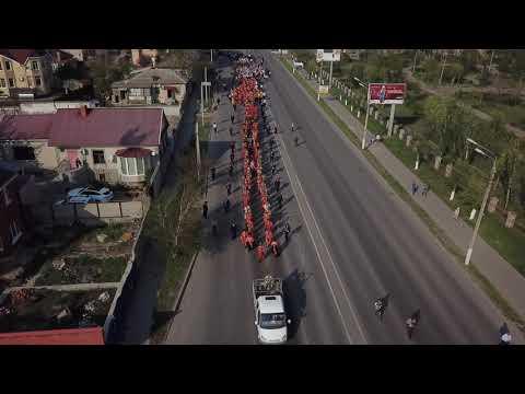 Пасхальный крестный ход в Волгограде сняли с высоты птичьего полета