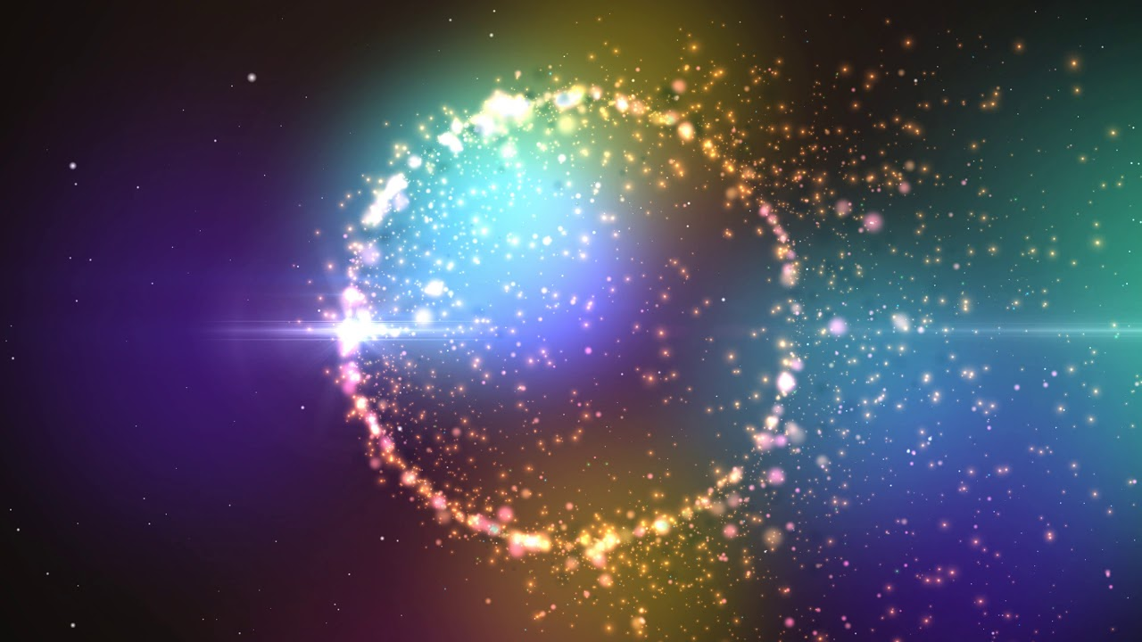 4K Colorful Relaxing Sparkling Ring In Space Moving