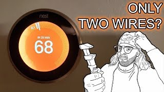 How to Install a Nest Thermostat with Only Two Wires