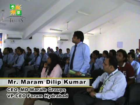 Me addressing Management Students at Tula;s