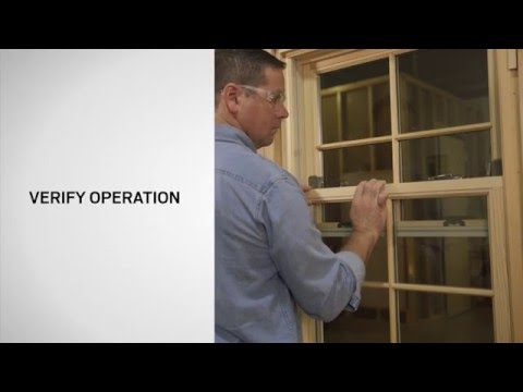 Window Opening Control Device on Andersen® E-Series Double Hung Windows