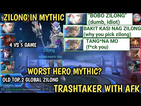 ZILONG WORST HERO IN MYTHIC?   OLD TOP 2 GLOBAL ZILONG   MOBILE LEGENDS
