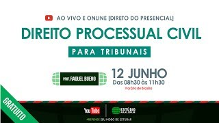 Direito Processual Civil para Tribunais  [ Direto do Presencial ]