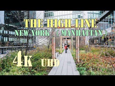 The HIGH LINE  ( New York, Manhattan )     4k  UHD