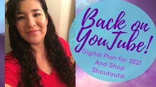 Vivi at Home Writes ~ Ep 36 Back on YouTube! (Digital Plan with Me and Shop Shoutouts!)