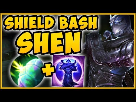WTF! UNLOCK PERMA SHIELD BASH WITH SHEN PASSIVE?? NEW SHEN SEASON 9 TOP GAMEPLAY! League of legends