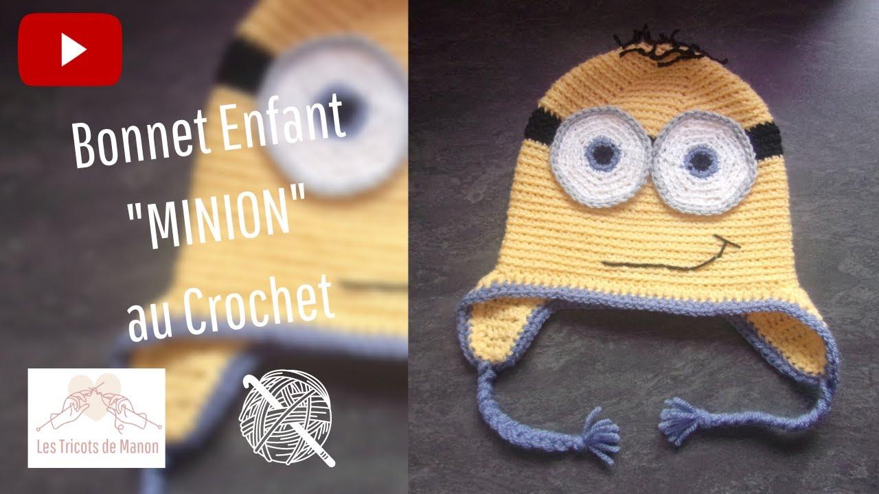 Bonnet Enfant Minion Au Crochet