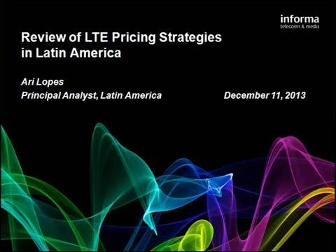 LTE (4G) Latam Princing Strategies