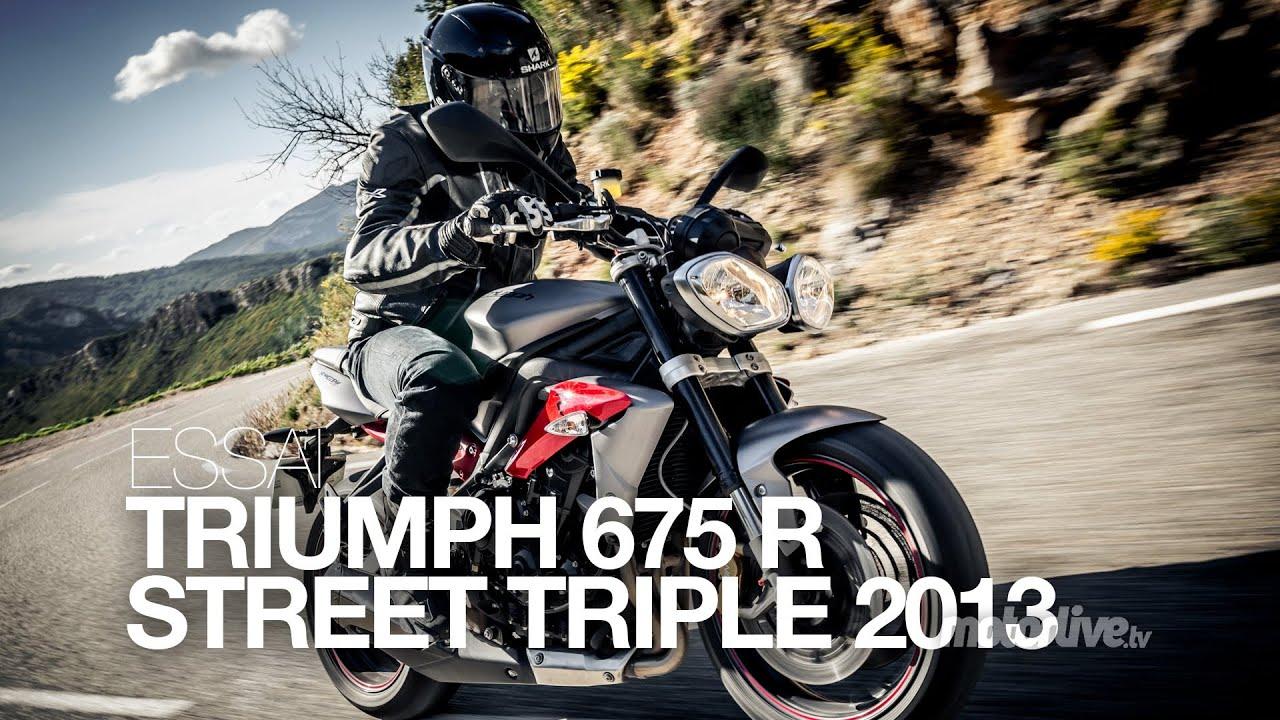 Test Triumph Street Triple 2013 Toujours Plus Magique Youtube