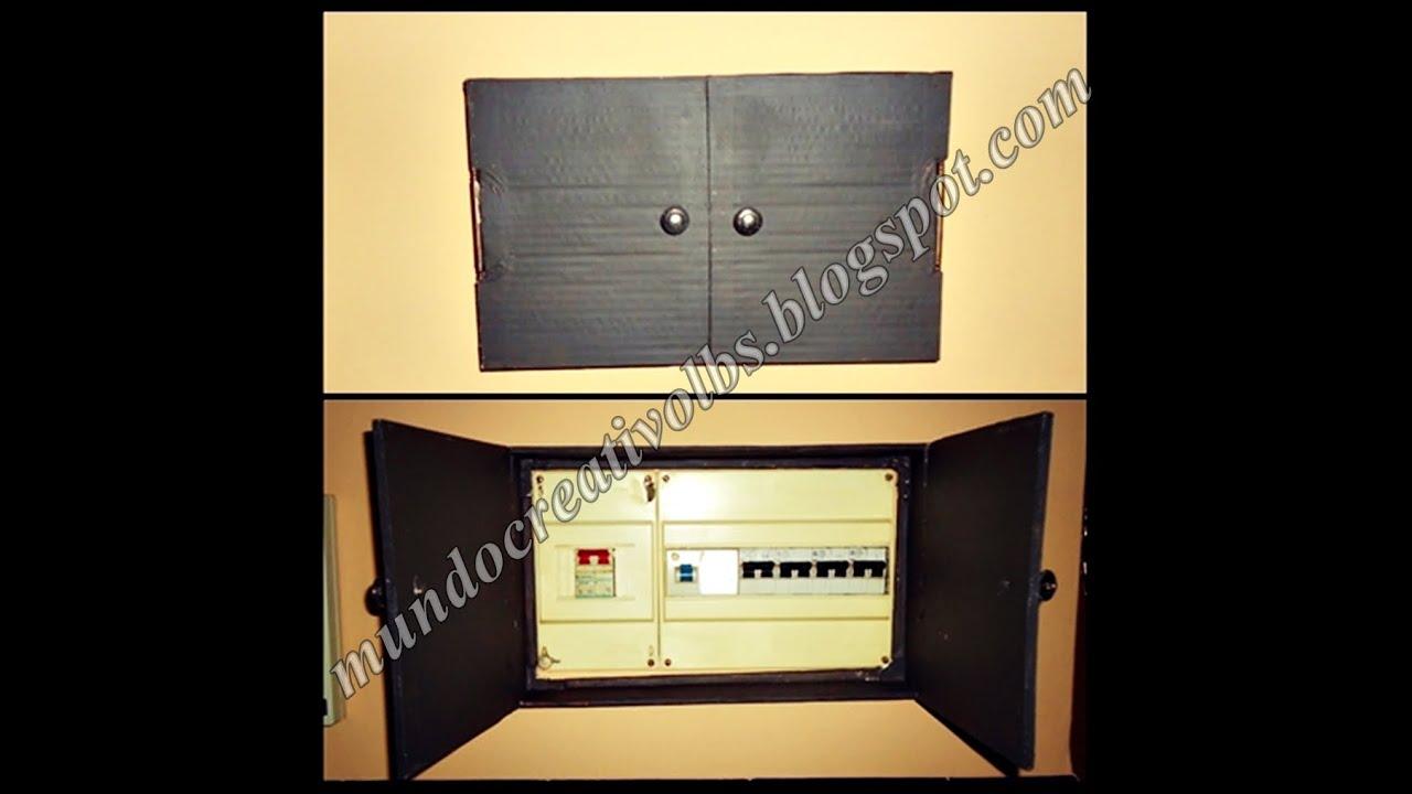Diy caja para tapar interruptores 025 youtube - Caja para ocultar cables ...
