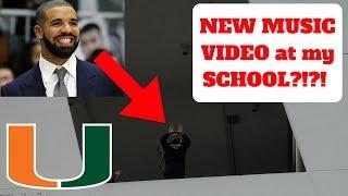 DRAKE VISITS my SCHOOL!!