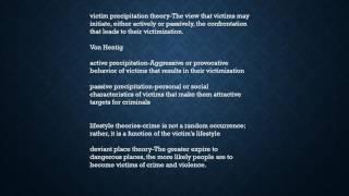 CRIMINOLOGY  VICTIM & VICTIMIZATION