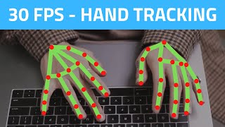 Hand Tracking 30 FPS using CPU | OpenCV Python (2021) | Computer Vision