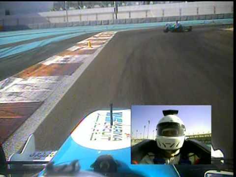 Driving with Formula 3000 at Yas Marina Circuit Abu Dhabi