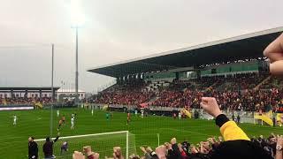 Göztepe Osmanlıspor maçı Kale arkası tribün çekimi