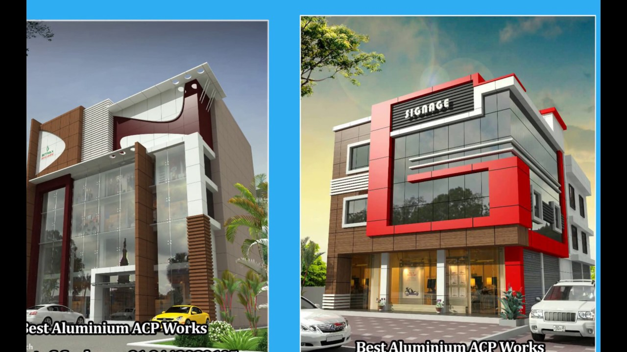 Acp Front Elevation Showroom Design : Best aluminium acp work in ariyalur karur