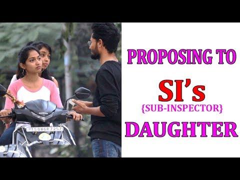 NEXT LEVEL PROPOSING TO SI's DAUGHTER | TELUGU PRANKS |DREAMBOY JAYSURYA