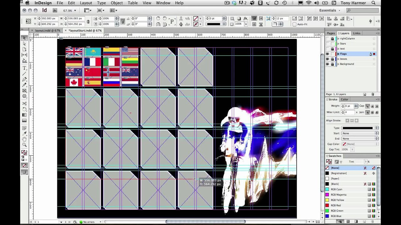 Basic grid layout tricks in InDesign - YouTube