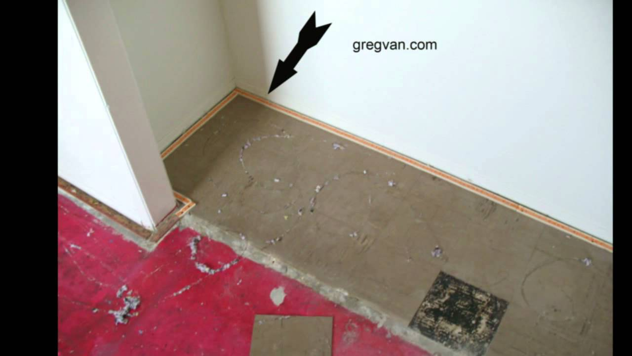 remove linoleum tiles before installing carpeting or tack strip