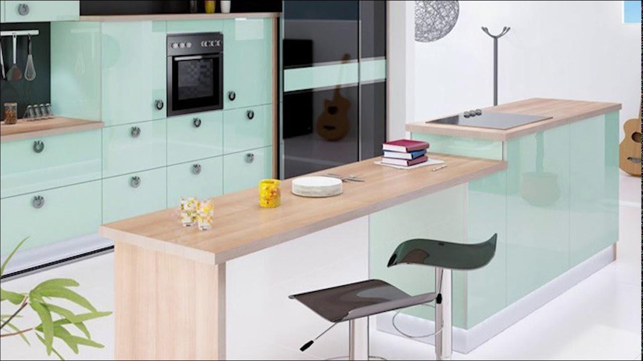 مطابخ راقية لعشاق اللون الأخضر المائي Cuisines Luxueuses En Vert D Eau 2019 2020