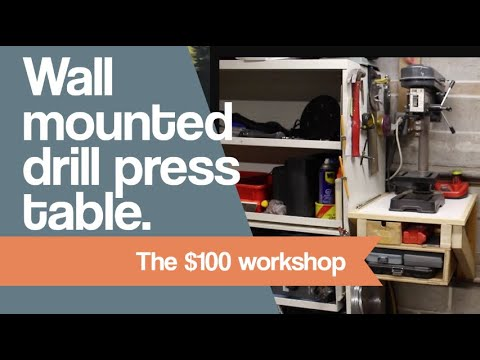Wall Mounted Drill Press Table