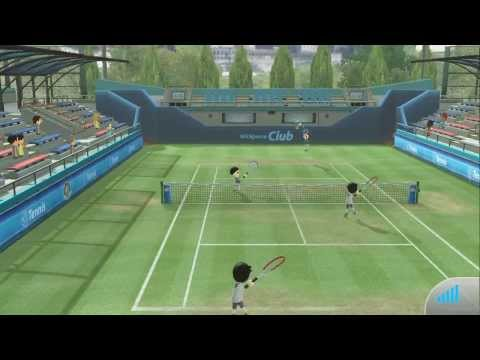 Wii U, Wii Sports Club, Online Tennis Gameplay