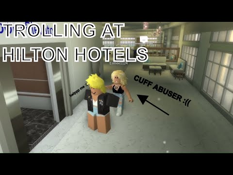 FOUND CUFF ABUSER WHILE TROLLING AT HILTON HOTELS | ROBLOX