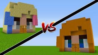 Minecraft: CASA DA SUPERGIRL VS CASA DA ARLEQUINA!