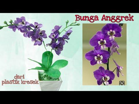 Cara Membuat Bunga Anggrek Dari Plastik Kresek 2 How To Make Orchid Flower With Plastic Bag Youtube