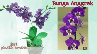 Cara Membuat Bunga Anggrek Dari Plastik Kresek (2)- How to make Orchid flower with plastic bag