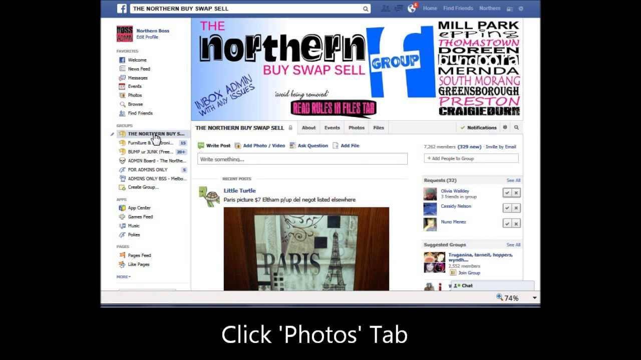 How to make an album on facebook group page