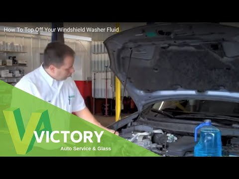 How To Top Off Your Windshield Washer Fluid