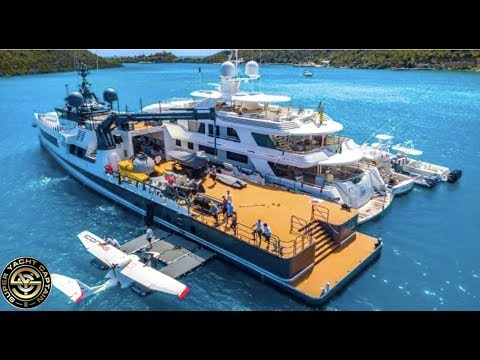 INCREDIBLE TOUR ON A SUPER YACHT SUPPORT VESSEL (Captain's Vlog 114)