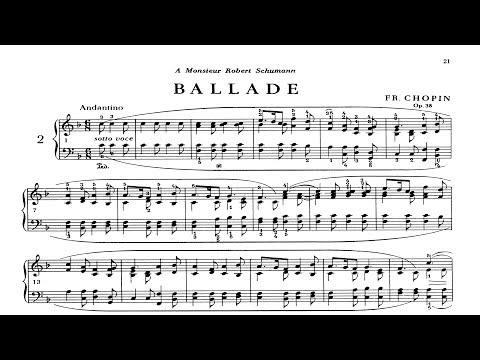 Chopin Ballade No.2 in F major, Op. 38 / Krystian Zimerman (with Score)