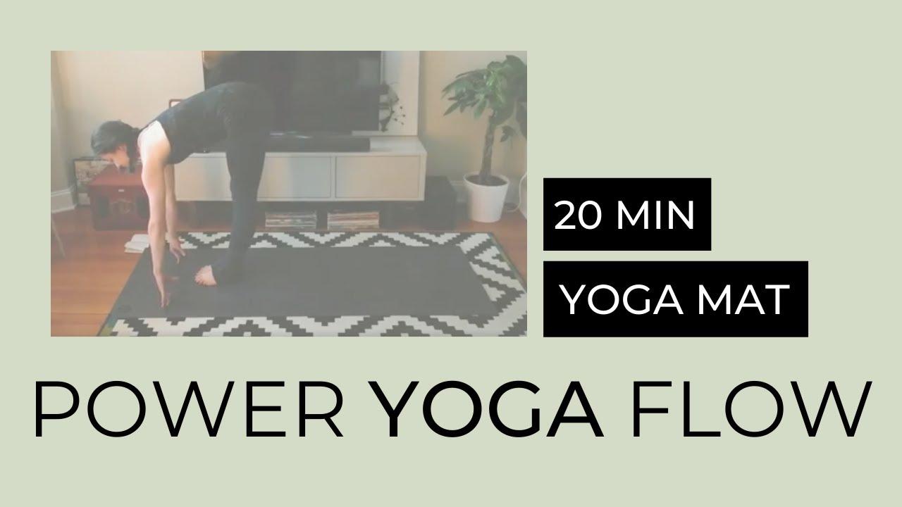 20-minute Power Yoga Flow - YouTube