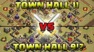 TOWN HALL 9 VERSUS TOWN HALL 11!? WHAT!? - Clash of Clans
