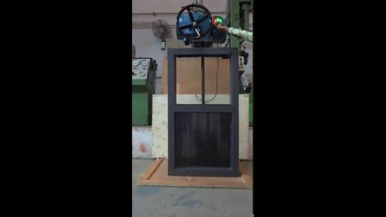 Motorized Slide Gate Damper Actuator Operated Guillotine