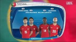 Portugal lineup v Austria: UEFA EURO 2016