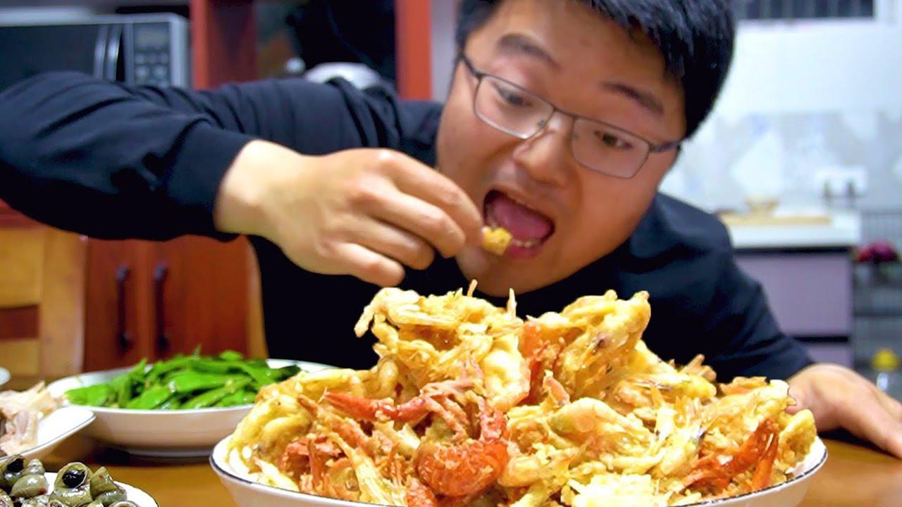 老家后院出产河鲜,大sao捞一斤做大餐,简单一炸全家都吃过瘾了!【徐大sao】