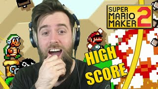 PAGING DOCTOR CLUTCH... This Gaming is InSaNe [ENDLESS HIGH SCORE] - Super Mario Maker 2