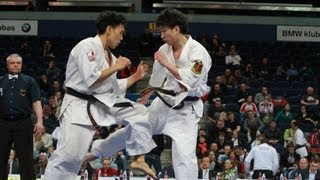 新極真会 The 5th Karate World Cup Men Light Weight Semifinal 1 Morikawa Vs Maeda