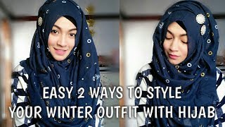 Pari ZaaD Easy Hijab Styles with Winter Outfits Ft Styline Collection