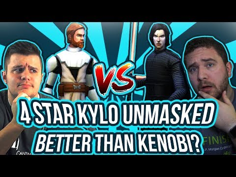 4 Star Kylo Ren (Unmasked) Good? Can Kylo Replace General Kenobi? | Star Wars: Galaxy of Heroes