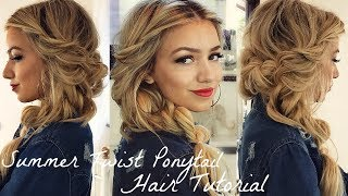 EASY SUMMER HAIRSTYLE / TWIST PONYTAIL HAIR TUTORIAL
