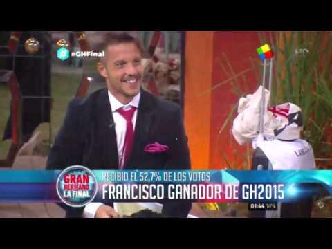 ¡Dale, campeón! Francisco es el ganador de Gran Hermano 2015
